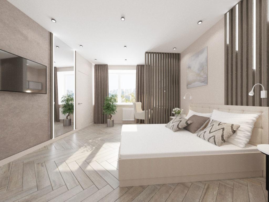 Квартира с легкой стилистикой лофта