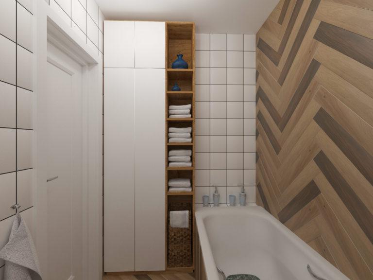 места для хранения в ванной